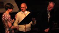 Årets Folkemusikkarrangør - 2012 - Columbi Egg. Her ved utdelinga i Bergen hausten 2012.