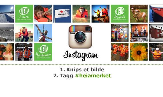 Tagg et bilde med heiamerket på Instagram og del det med oss