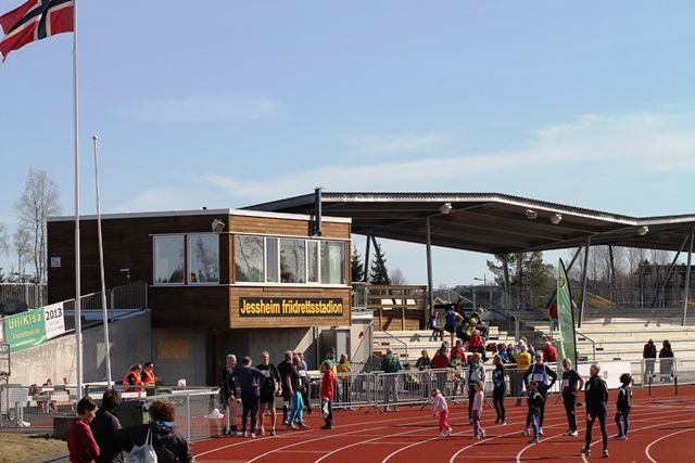 Etter at Jessheim friidrettsstadion sto ferdig i 2013 ble også UKI-karusellen flyttet hit, og nye løyper tilrettelagt (foto: Olav Engen)