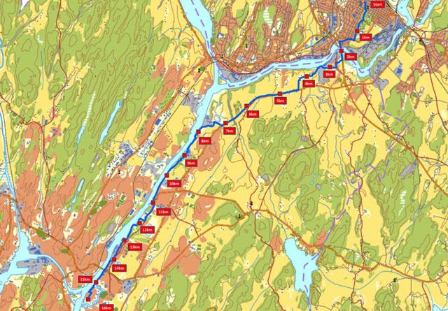 glommastien kart Nytt løp og stafett langs Glomma   KONDIS   norsk organisasjon for  glommastien kart