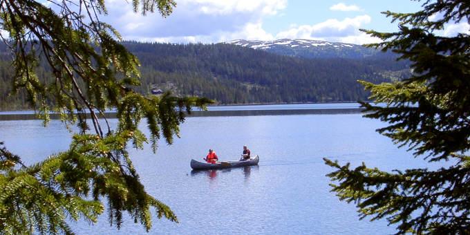 Padling på Paradisfjorden i Valdres