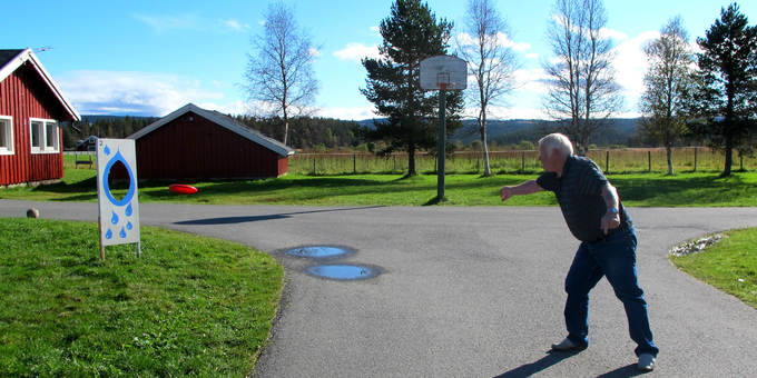 Frisbeegolf på Heia Merket