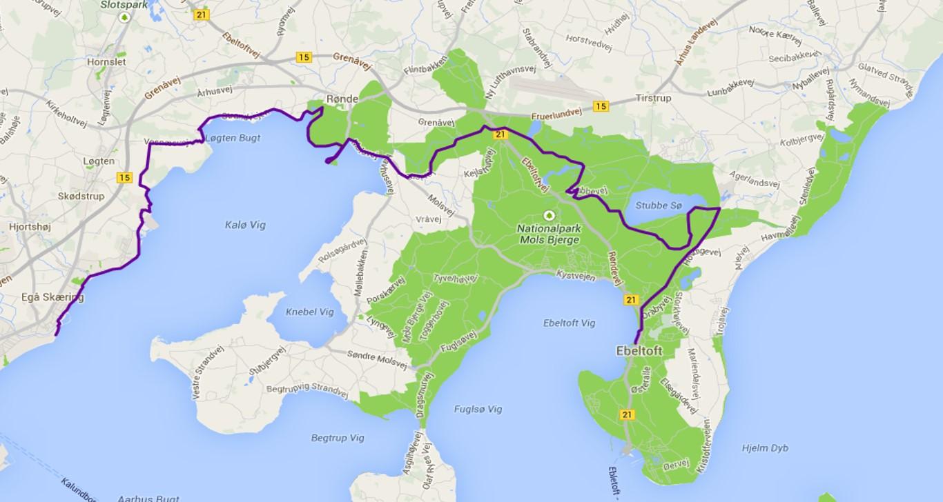 kart over ebeltoft Ultraløp i Mols Bjerge 5. oktober   KONDIS   norsk organisasjon  kart over ebeltoft