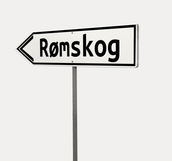 Skilt til Rømskog