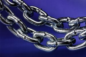 Two pieces of silver chain links Backgrounds