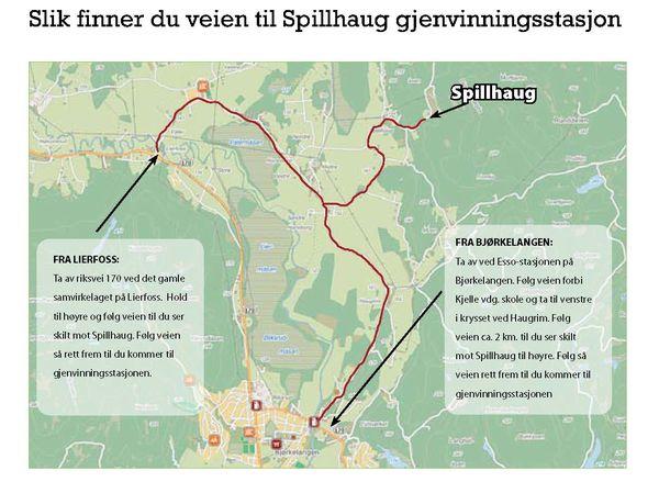Kart til Spillhaug
