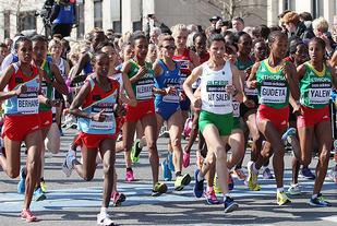 Både i København i 2014 (bildet) og i Cardiff to år seinere hadde VM halvmaraton innlagt løp for massene. Det vil det også bli i Valencia i år. (Foto: Kjell Vigestad)