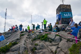 Mål på Løvstakken Opp . Fra arrangemntet i 2014. Foto: Trygve Andresen