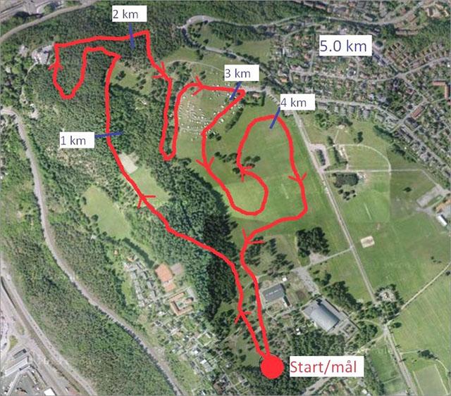 ekeberg kart Løp