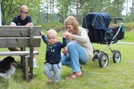 Magnus på tur i Rælingen