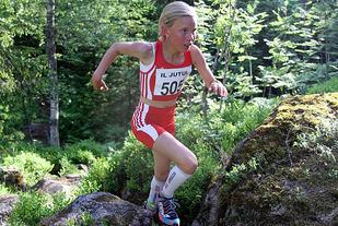 Fra et tidligere løp med Pernille Antonsen på vei opp Kantebakk i Bærum. (Foto: Heming Leira)
