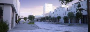Allmenningen i nye Knarvik sentrum.