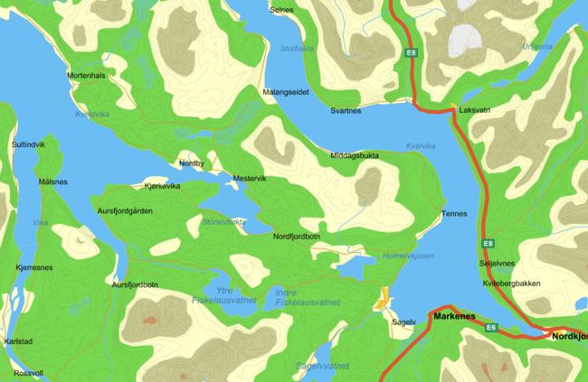 Kart Balsfjord