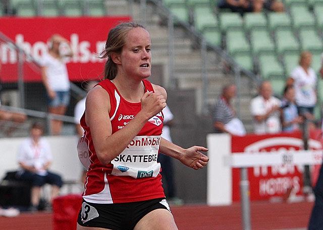 Karoline Skatteboe fikk gleden av å løpe først i mål på 1500 m i et stevne i Arlington i USA. (Arkivfoto: Bjørn Johannessen)