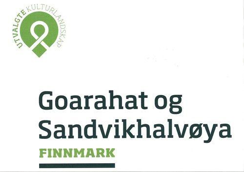 Logo for Utvalgte kulturlandskap-Goarahat og Sandvikhalvøya