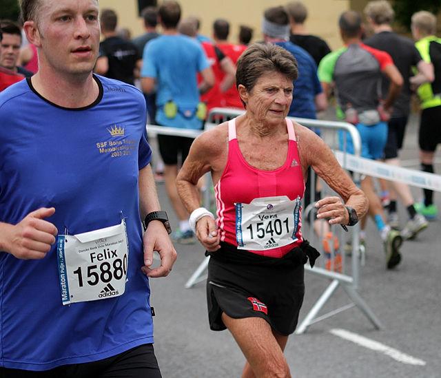 Arkivfoto: Vera Nystad fra Oslo Maraton 2014. Fotograf: Oddvar Røsten