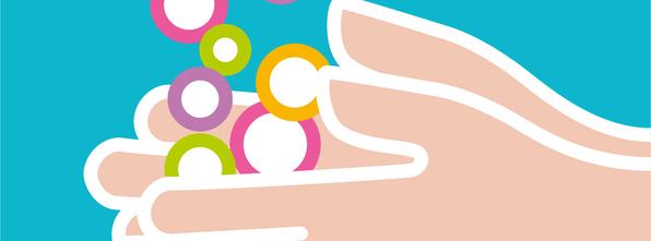 Målet med rein hand-prosjektet er å lære barna handhygiene - og senke sjukefråveret