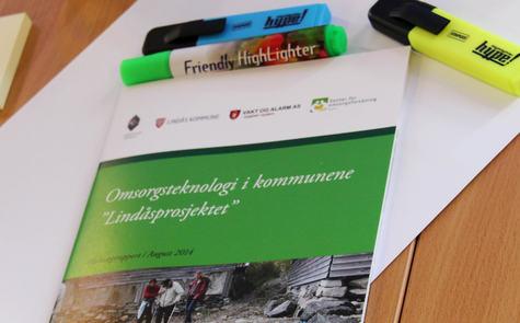 Lindås kommune inviterer til seminar om omsorgsteknologiprosjektet på nyåret 2015.