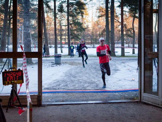 Målgang i Nyttårsløpet i 2014. Foto: Georg Bryn