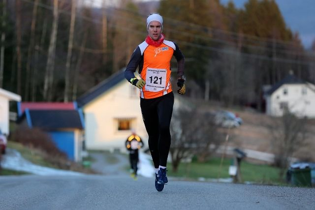 Eirik Rustad byttet ut fjorårets 2. plass på Bjørkelangen med seier denne gangen. Bildet er fra fjorårets løp (foto: Bjørn Hytjanstorp).