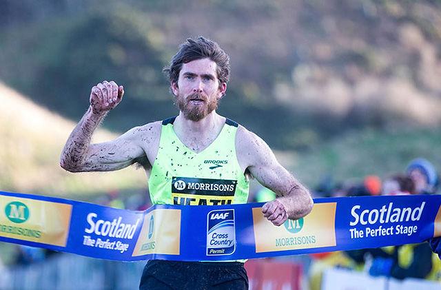 Garrett Heath tok sin tredje strake seier i Great Edinburgh X-Country. Bildet er fra fjorårets løp. (Foto: arrangøren)
