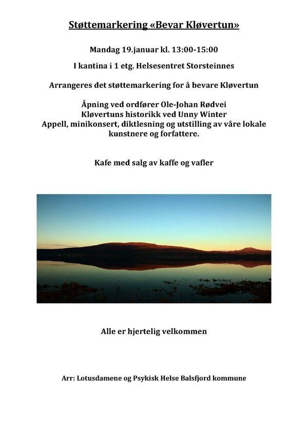Støttemarkering for bevaring av Kløvertun