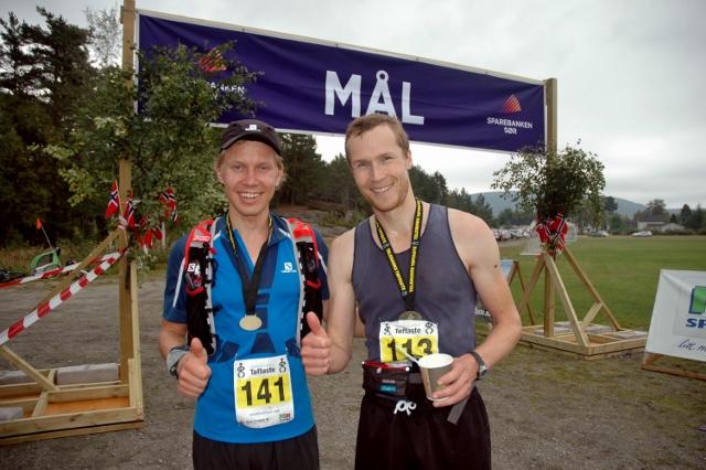 Nr 2 maraton, Jørn Ivar Holland, til venstre, var bare fire minutt bak vinnaren Joel Pedro frå Australia.  Foto Unni Løken (640x426).jpg