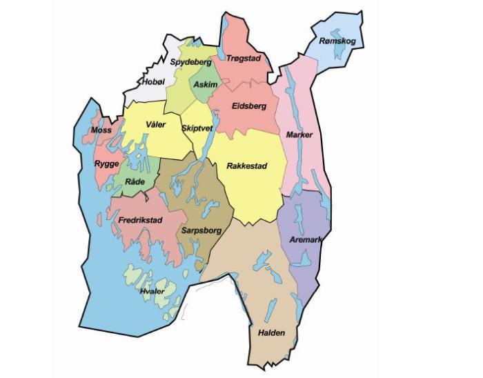 kart rygge kommune Kommunereformen   Rakkestad kommune