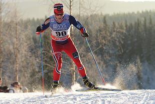 Martin Johnsrud Sundby i aksjon på Lillehammer.