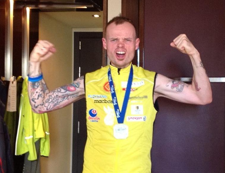 En svært fornøyd Bjørn Tore Taranger etter Barcelona Marathon