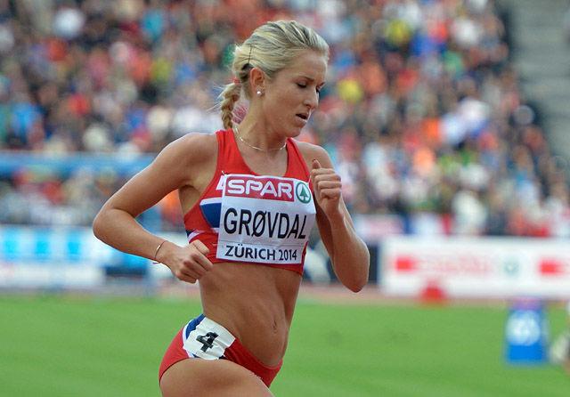 Karoline Bjerkeli Grøvdal hadde en av sine aller beste dager som løper da hun noterte 14.57,77 på 5000 meteren i Roma. (Arkivfoto: Bjørn Johannessen)