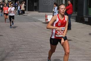 Johanne Lægran topper 5km statistikken etter Fredrikstadløpet i klasse 18-19 år med 19:08