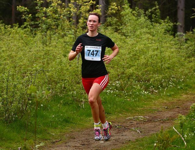 Solfrid Braathen i ABIK-karusellens 3. løp i fjor (foto: Bjørn Hytjanstorp)