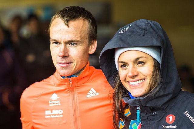 Årets nybakte norgesmestere i motbakkeløp: Johan Bugge fra Eidsvåg IL og Heidi Weng, IL i BUL. (arrangørfoto)