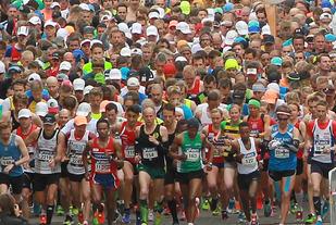Stockholm Marathon i 2015. Foto: Kjell Vigestad