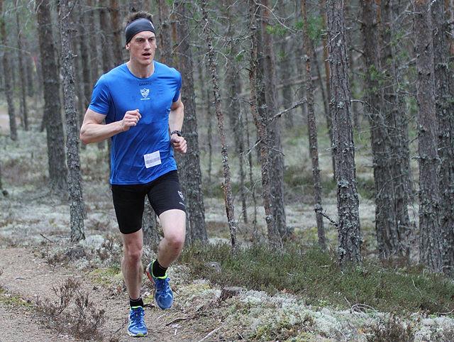 Johan Edin i Gå-joggen i Stavåsen i 2013.