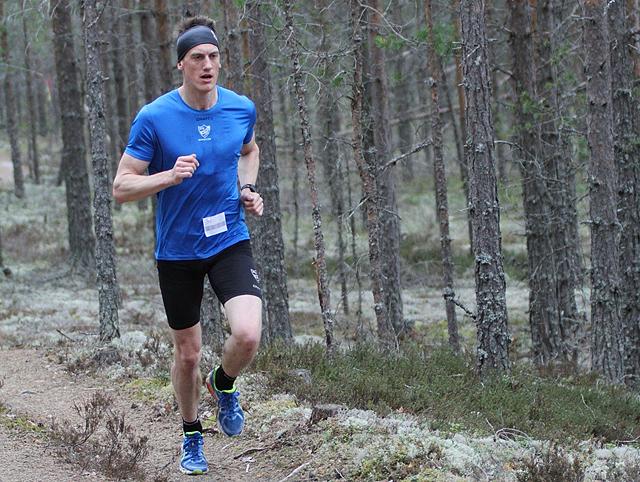 Johan Edin i Gå-joggen i Elverum i 2013