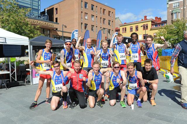 Malm IL/Selsbakk IF var raskeste lag i St. Olavloppet 2015 med tida 18.25.38. (Foto: Arne Brunes)