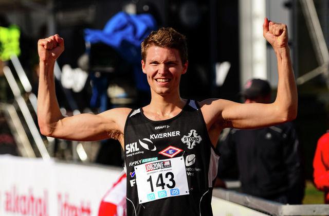 Tom Erling Kårbø hadde mye å juble for etter hinderløpet i Frankrike. (Arkivfoto: Erling Pande Braathen)