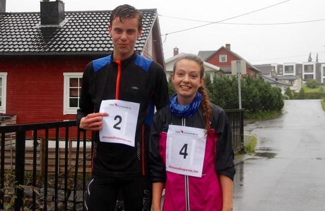 Andreas Vangsnes, Ålesund FIK og Amanda Tenfjord, Ravn IL vant i kveld 5 km i det andre løpet av Ålesund sommerkarusell