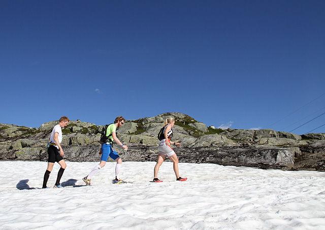Det blir mer snø og mindre sol for rallarvegsløperne i år enn det de hadde i fjor. (Foto: Espen Ringom)