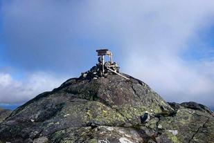 Hermannsnosen er første topp som må passeres i Meråker Ultra Challenge og altså NM terrengultra neste år. (Foto: Arrangøren)