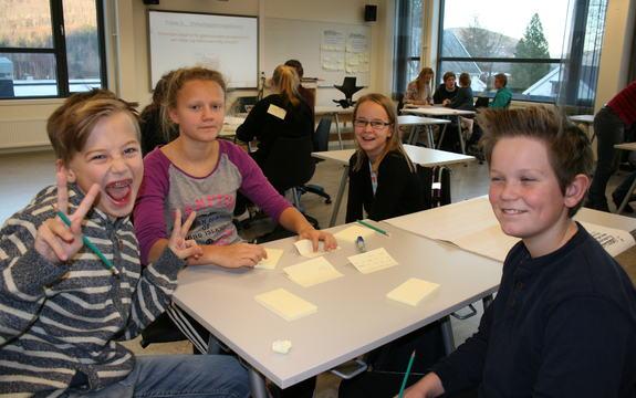 Elever fra 7. trinn, Lundamo skole deltok i Tankesmie om forbruk og livsstil