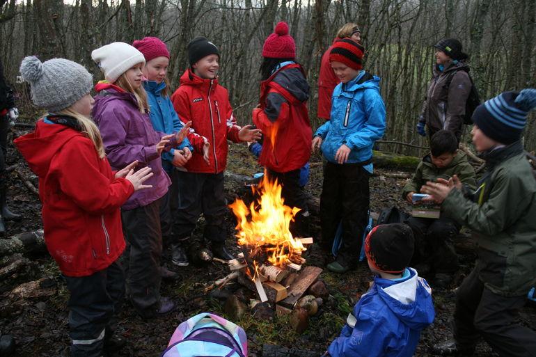 Naturens kretsløp i skoleskogen, Rosmælen, 3.11.14
