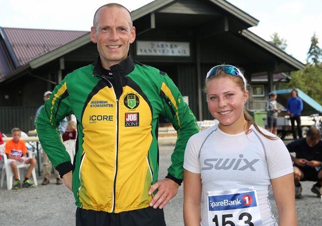 Sara Pettersen Fuglu og Harald Furuseth vant den 56. utgaven av Dragsjøen Rundt (Foto:Bjørn Hytjanstorp).