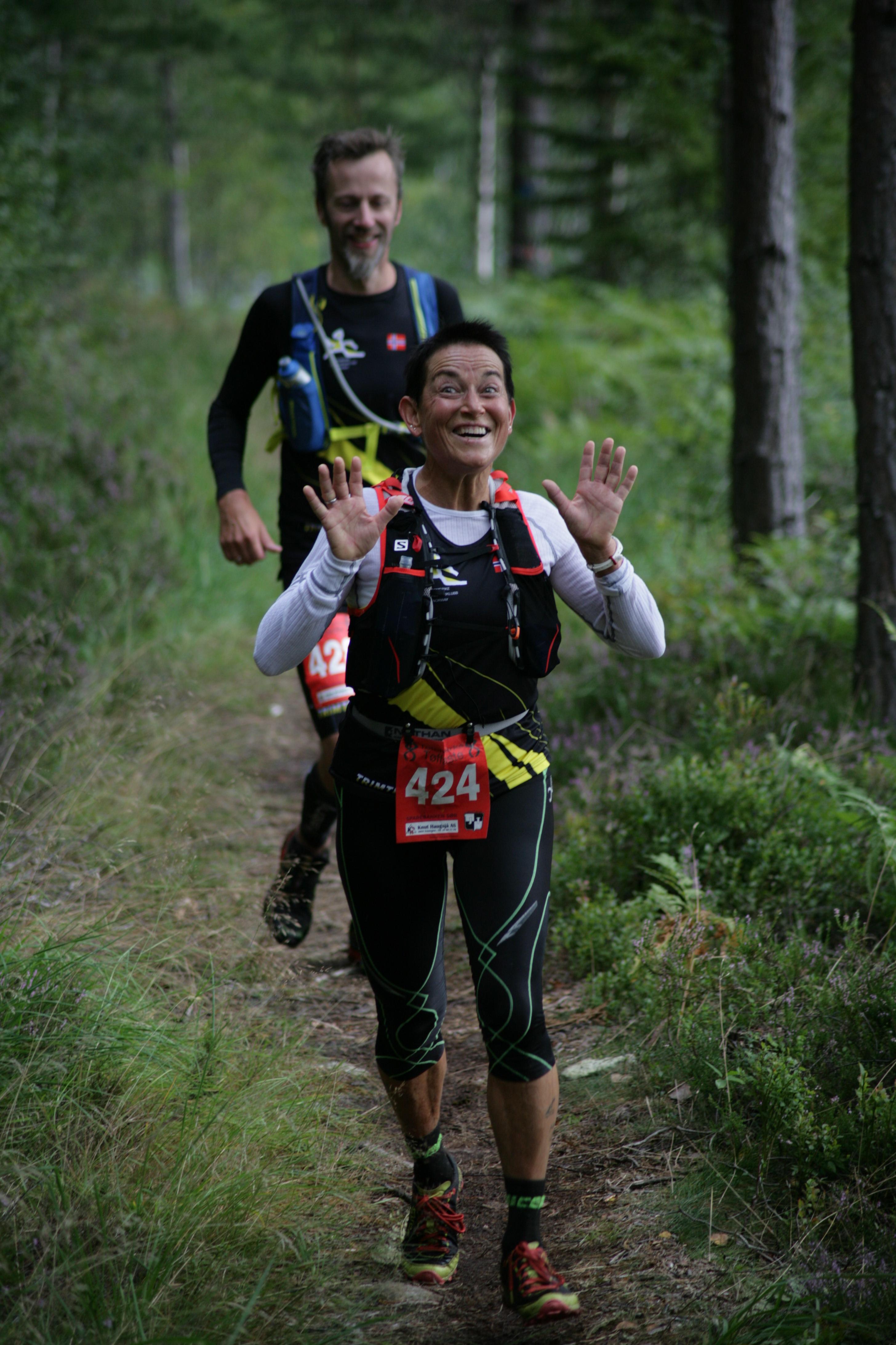 Andre plass kvinner 82 km, Ingvill Stedoy Johansen, Romerike Ultraloperklubb.jpg