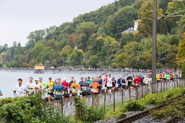 Fra årets 3-länder Marathon og løypa langs Bodensee (Arrangørfoto),