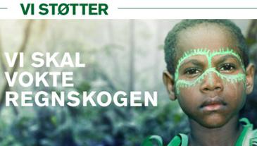 Bevaring av regnskogen er tema for TV-aksjonen 2015.