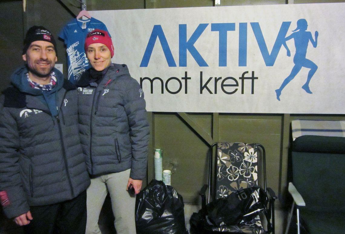 Løpevennene Geir og Marit.... arrangerte og deltok selv (arrangørfoto).