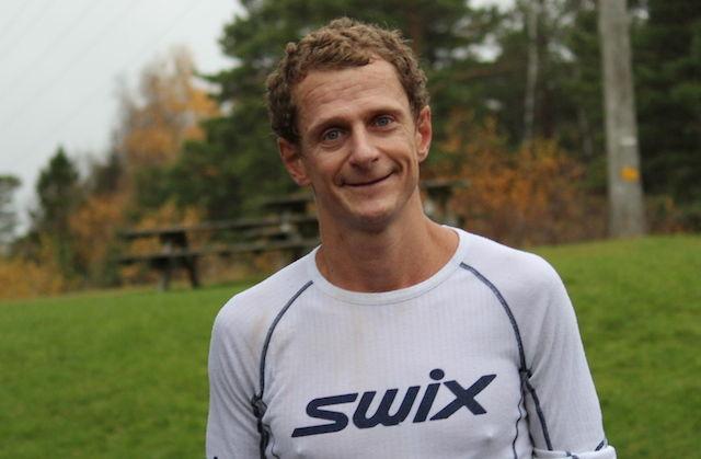 Gerhard Sletten var fornøyd med egen innsats i dagens maraton. Foto: Arne Chr. Folmer